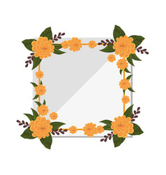 Frame with flowers vector