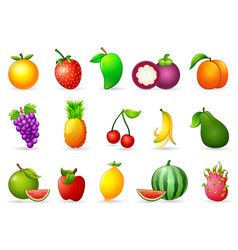 Fresh fruit cartoon vector