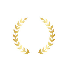golden circular laurel or olive greek wreath vector image