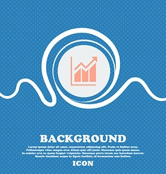 Growing bar chart icon sign Blue and white vector image vector image