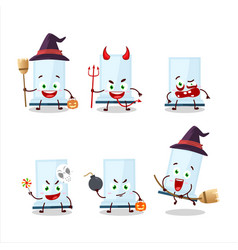 Halloween expression emoticons with cartoon vector