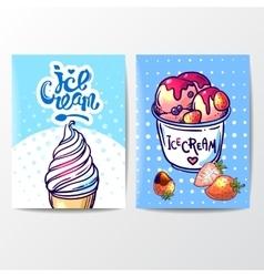 Hand drawn ice cream vector