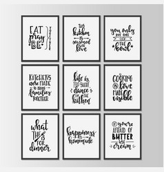 happy kitchen drawn typography poster conceptual vector image