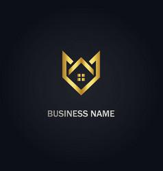 Home realty business design logo vector