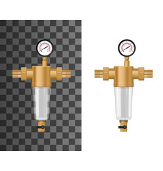 House water sediment filter system mock-up vector