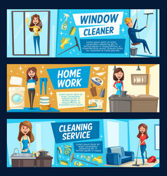Household chores housework cleaning service vector