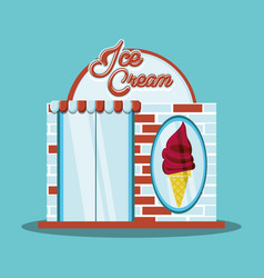 ice cream shop facade vector image