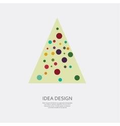 Icon Christmas tree for holiday season vector