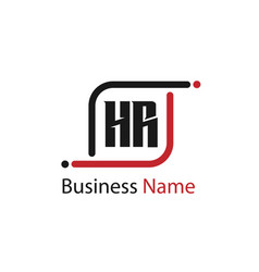 initial letter hr logo template design vector image