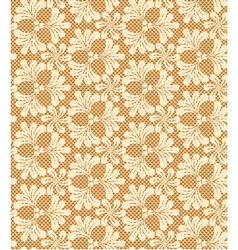 Lace floral elegant double beige vector
