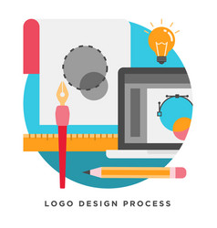 Logo design process vector