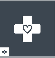 medical cross related glyph icon vector image
