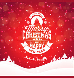 Merry christmas with typography and ornament vector