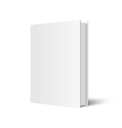 Mock up standing book vector