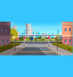 modern city street architecture skyscraper vector image