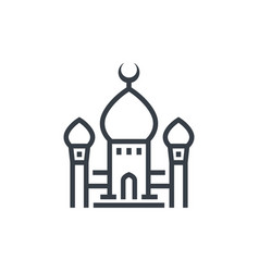 mosque icon linear style vector image