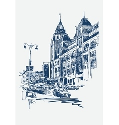 original digital sketch of Kyiv Ukraine town vector image