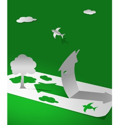 paper world vector image