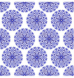 porcelain chinese blue pattern vector image