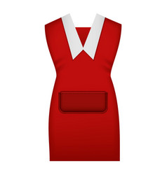 Red work uniform mockup realistic style vector