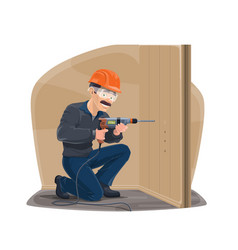 repairman carpentry and home construction worker vector image