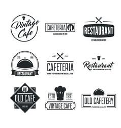 Restaurant logos badges and labels design vector
