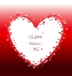 Romantic red heart background frame vector image