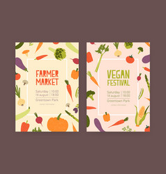 Set of flyer or invitation templates for farmer vector