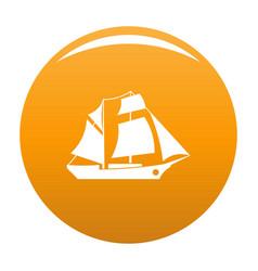 Ship excursion icon orange vector