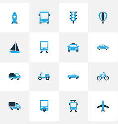 Shipment colorful icons set collection of missile vector