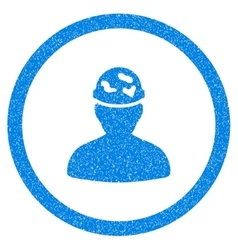 Soldier Under Spotted Helmet Rounded Icon Rubber vector