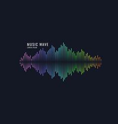 Sound wave equalizer on dark vector