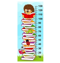 Stack books height measure vector