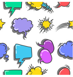 Stock of text balloon style doodles vector