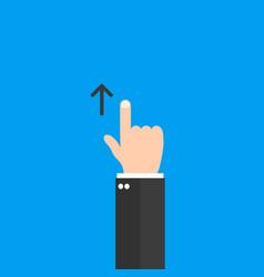 Swipe up hand icon vector