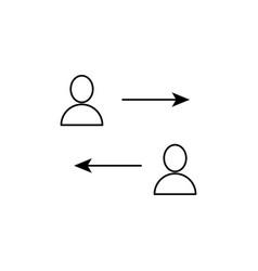 team transfer icon vector image vector image