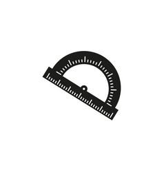 The protractor of a school instrument icon vector