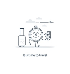 Travel advertising concept vector image