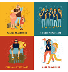 Travel tips concept icons set vector