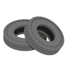 Truck tyre icon isometric style vector