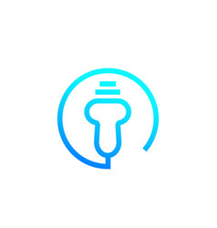 Ultrasound simple line icon vector