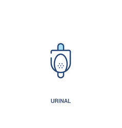 Urinal concept 2 colored icon simple line element vector