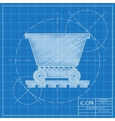 Vetor color flat trolley icon Epsblueprint 0 vector