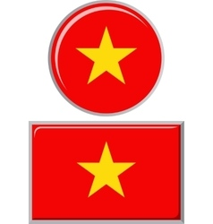 Vietnamese round and square icon flag vector