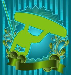wakeboard vintage design vector image
