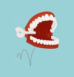 Wind Up Teeth Toy vector