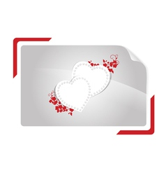 hearts with floral vector image vector image