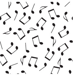 seamless pattern drawn music notes vector image vector image
