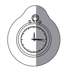 sticker silhouette stopwatch graphic icon flat vector image