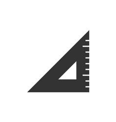 triangle ruler black icon vector image